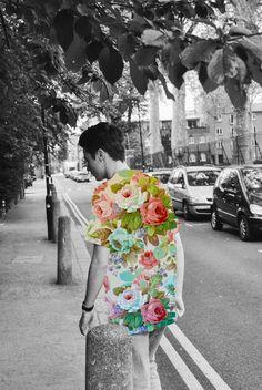 Women's Clothing Audacious J Jill Rust Cream Watercolor Florals Skirt Sz 12 Sturdy Construction