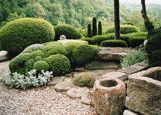 jardin graphique - Emma Home Patio Garden, Winter Garden, Garden Landscape Design, Boxwood Garden, Plants, Landscape Design, Japanese Garden, Outdoor Gardens, Mediterranean Garden