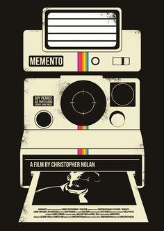 Memento Print. Re-imagined film poster by Dan Sherratt.