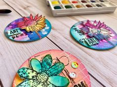 Stamping and Mixed Media, tutorials and ideas. Fun challenges every month, with prizes! We also make our own line of rubber stamps. Art Trading Cards, Cd Art, Rolodex, Atc Cards, Fun Challenges, Altered Books, Book Making, Art Journaling, Paper Crafting