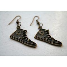 Shoe Earrings Cute Earrings 10th Doctor Converse Earrings ❤ liked on Polyvore