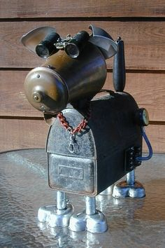 Copper, Found Object Robot ... by Sally Colby, NutzenBoltsWorks