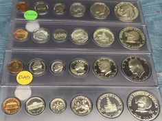 1970-1979  Jefferson Nickel  Run proof Set 10  US Coins