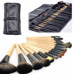 Professional 24 Piece Makeup Brush Set With Case - Save 87% only $22