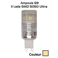 Ampoule G9 11 leds ultra SMD 5050 360° Blanc chaud (220V)