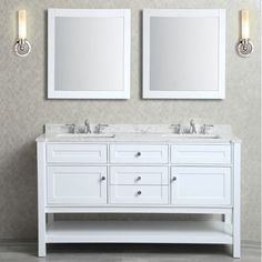Ariel Mayfield 60-inch Double-sink Bathroom Vanity Set