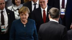 Both Merkel and US Vice President Mike Pence attend key security conference in Munich with Russia high on the agenda.