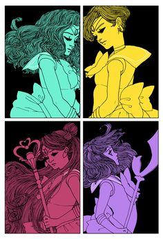 Cool SAILOR MOON Art Nouveau Inspired Geek Art | Geek Mundo