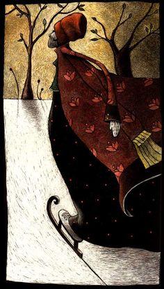 Patineuse ~ Artwork by Sylvie Wibaut