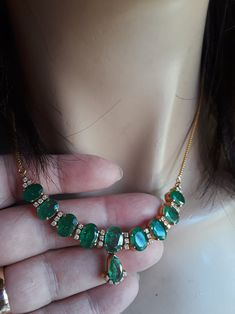 Gold Colombian Emerald Diamond Necklace Exclusive One Of A Kind Diamond Initial Necklace, Diamond Cross Necklaces, Gold Necklace, Necklace Price, Diamond Pendant, Gold Jhumka Earrings, Emerald Necklace, Stone Necklace, Gold Pendant