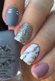 Nails marble Water Marble Nail Art With Gel Polish Hession Hairdressing Nails . Water Marble Nail Art With Gel Polish Hession Hairdressing Nails nail stamping with gel - Nail Stamping Dark Nails, Blue Nails, My Nails, Glitter Nails, Metallic Nails, Nails 2017, Nails On Fleek, Marble Nail Designs, Nail Art Designs