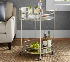 Win a bar cart in August 7 Vignettes with Pottery Barn - The Interiors Addict