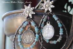RESERVED For DEBRAStarry Skies EARRINGS by ChristineWallace