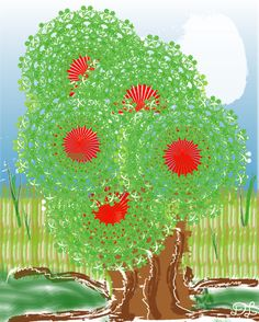 Tree Ilustration, Let it Grow