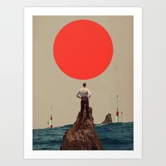 Because You told me to Believe Art Print by Frank Moth - X-Small Collage Artwork, Artwork Prints, Fine Art Prints, Collages, Affordable Art, Vintage Man, Retro Vintage, Folded Cards, Buy Frames