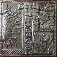 Simple Metal Working Projects Tips; Fast Advice In DIY Black Smith Metal Working - The Options - Fement Tin Foil Art, Aluminum Foil Art, Aluminum Can Crafts, Tin Art, Metal Crafts, Pewter Art, Pewter Metal, Metal Embossing, Metal Stamping