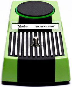 Fender Sub-Lime bass fuzz pedal- Large and in charge.  Travel in the gain knob is short.