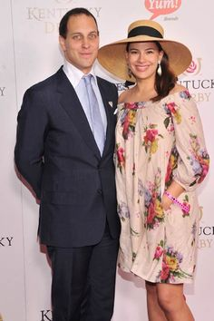 Lord Frederick Windsor and his pregnant wife Sophie Winkleman attend the Kentucky Derby at Churchill Downs on May 2013 in Louisville, Kentucky. Sophie Winkleman, Lord Frederick Windsor, Royal Uk, Royal Ascot, Royal Clan, David Louis, Kate Middleton Pregnant, Prince Michael Of Kent, Royal Family Pictures