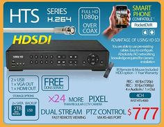 HTS Series HD-SDI Full HD 1080P Per Channel!!! Real-Time DVR! 24X Higher Resolution THAN any analog DVR!!!