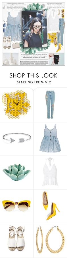 """""""♠ She's a flower"""" by paty ❤ liked on Polyvore featuring Topshop, Bling Jewelry, Dot & Bo, Glamorous, Dolce&Gabbana, Fragments, Christian Dior and Kayu"""