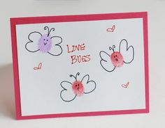 The kids will love to stamp up these cute Love Bug cards! They are perfect for Valentine's day to make for loved ones. Even a classroom party craft or for your classmates as a Valentine.