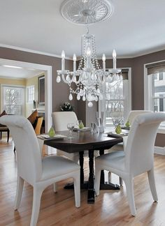 Weiß Esszimmer Kronleuchter - Gartenmöbel