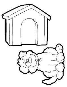 The Doghouse Coloring 295x383 Pixel Animal HouseColoring PagesFree