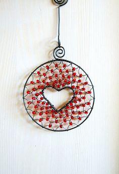 Srdíčko v kolečku - červené