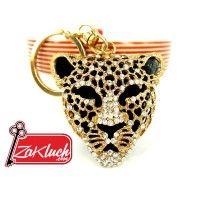 """Луксозен ключодържател - ЛЕОПАРД с кристали  Леопардът (Panthera pardus) е една от така наречените """"големи котки"""". Леопардите имат дълги нокти"""