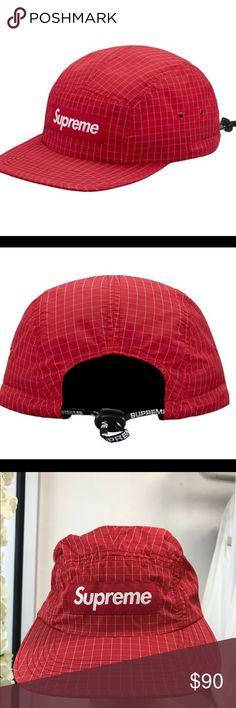c5d0c8a9712 EUC Supreme Nylon SS18 Contrast Ripstop Camp Cap Supreme Made in USA Supreme  Accessories Hats Supreme