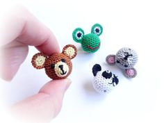 From these crochet frog,bear, panda or mouse beads you will make perfect nursing necklace, baby teething toy and more! Beads size-22 mm(0,86 inch)