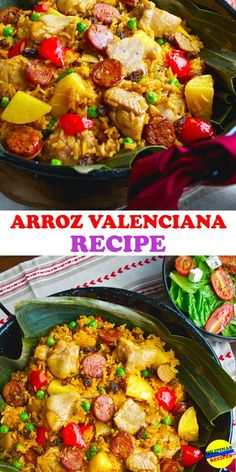 The Filipino version of this Arroz Valenciana Recipe is very delicious and healthy. Using Malagkit, Coconut Milk, Chicken, hard boiled Eggs, and Chorizo. Rice Recipes, Asian Recipes, Cooking Recipes, Ethnic Recipes, Chicken Recipes Pinoy, Easy Filipino Recipes, Vegetarian Recipes, Recipies, Arroz Valenciana Recipe