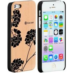 iPhone 5 Wood Case Hydrangea