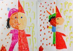 Op zoek naar een grappige tekenopdracht waar je als leerkracht weinig voorbereiding aan hebt? Dan is dit een hele leuke opdracht!Het enige dat je nodig h