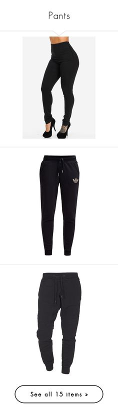 """Pants"" by moonlightbaee-xo ❤ liked on Polyvore featuring pants, bottoms, stretch pants, high waisted black trousers, high rise black pants, highwaisted pants, high waisted black pants, activewear, activewear pants and sweatpants"