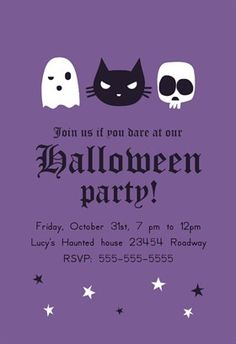 """""""Haunted House Party""""  printable invitation template. Customize, add text and photos. Print or download for free!"""