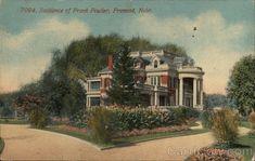 Residence of Frank Fowler Fremont, NE Postcard
