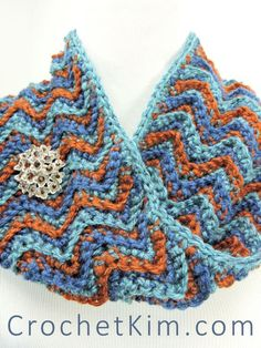 CrochetKim Free Crochet Pattern | Beach Sunset Cowl @crochetkim