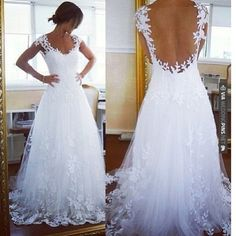 Awesome! - weddding dress lace and detail | CHECK OUT MORE IDEAS AT WEDDINGPINS.NET |