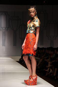 Two Pieces on Shanghai Swing Fashion Show by Sebastian Gunawan