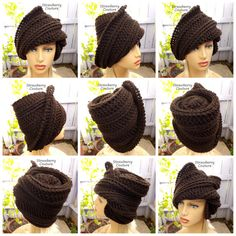 50th Birthday Gift for Women Crochet Hat by strawberrycouture