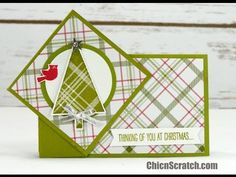 Twist Turn Christmas Card by Stampin' Up! Card Making Templates, Card Making Tutorials, Making Ideas, Fancy Fold Cards, Folded Cards, Scrapbooking, Scrapbook Cards, Origami, Easel Cards