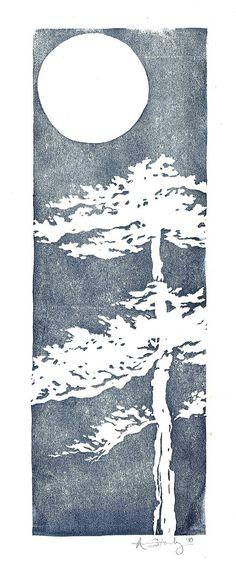 early linocut