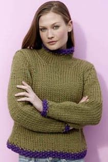 Baby Quick Knit Pullover FREE pattern (Yarn Discontinued)