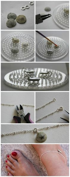 Making Jewelry Tutorial - Summer Sand Dollar Anklet Tutorial. Love this craft idea....great way to use shells from your summer travel.