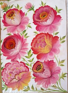 Тагильская роза. Tagil painting