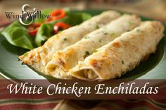 White Chicken Enchiladas using Wind  Willow's Jalapeno Jack Cheeseball  Appetizer Mix.  #WindandWillow