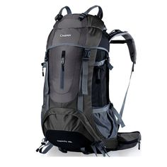 YAAGLE Unisex Nylon Oxford Water Resistant Anti-scratch 60L Outdoor Hiking Climbing Camping Backpack Explorer Sports Cycling Biking Rucksack Travel Bag With Rain Cover Green Blue Black Red Orange -- To view further for this item, visit the image link.
