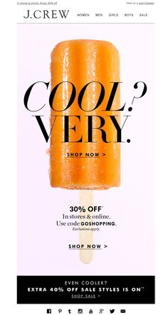 #newsletter J.Crew 06.2015 Keep cool this summer with 30% off (in stores & online)