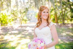 Bridal Portrait // Navy, Pink + Coral Legare Waring House Wedding // Dana Cubbage Weddings // Charleston SC Wedding Photography